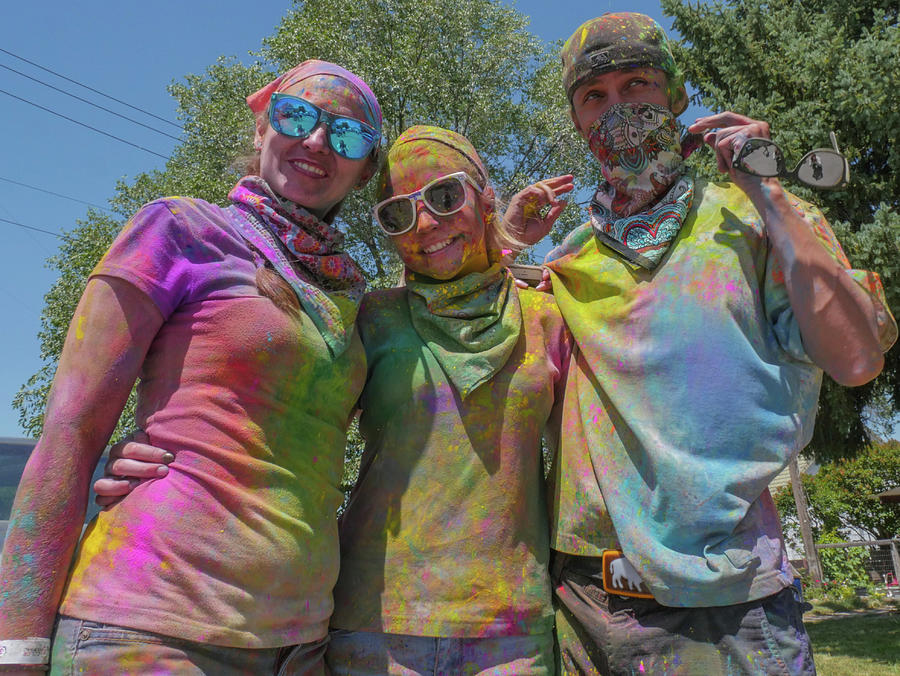 Holi Festival Photograph - Doused With Color 2 by Billy Joe