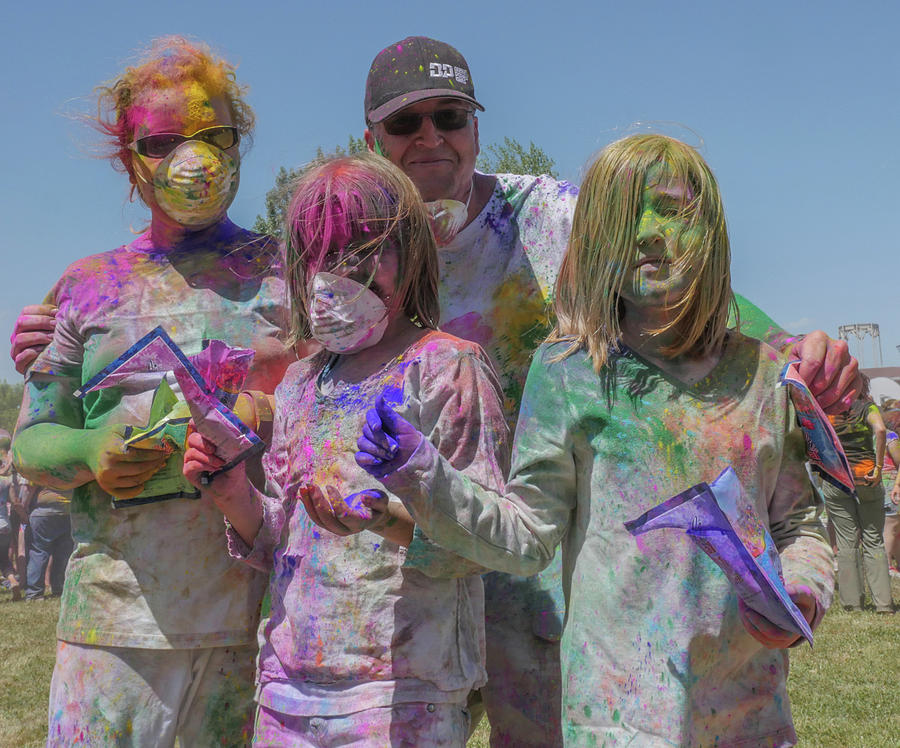 Holi Festival Photograph - Doused With Color 3 by Billy Joe