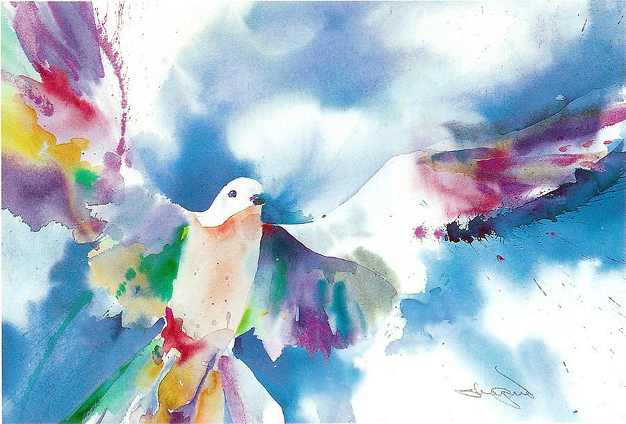 Dove Painting - Dove by H Lee Shapiro