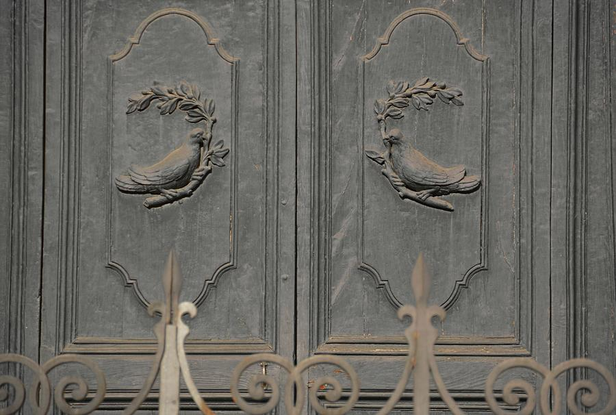 Italy Photograph - Doves On The Doorway by JAMART Photography