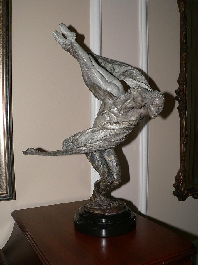Bronze Sculpture - Doves  by Richard MacDonald