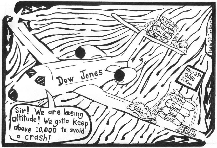 Dow Jones Drawing - Dow Jones Airlines By Yonatan Frimer by Yonatan Frimer Maze Artist