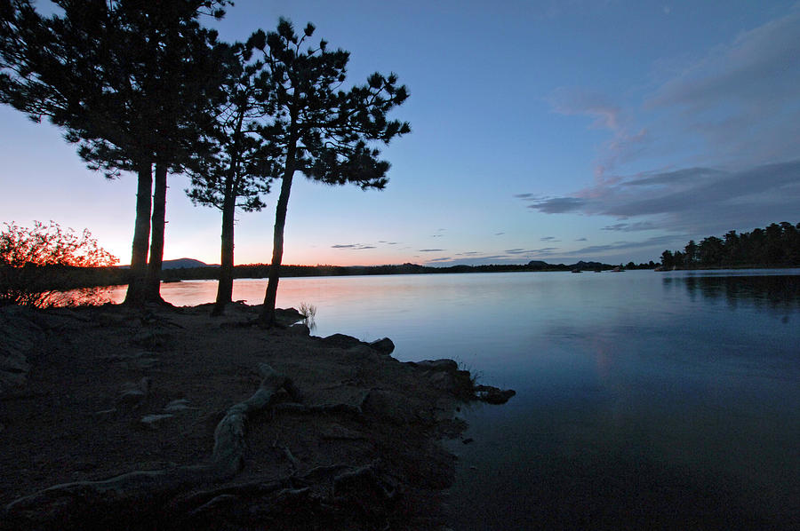 Dowdy Lake Silhouette Photograph by James Steele