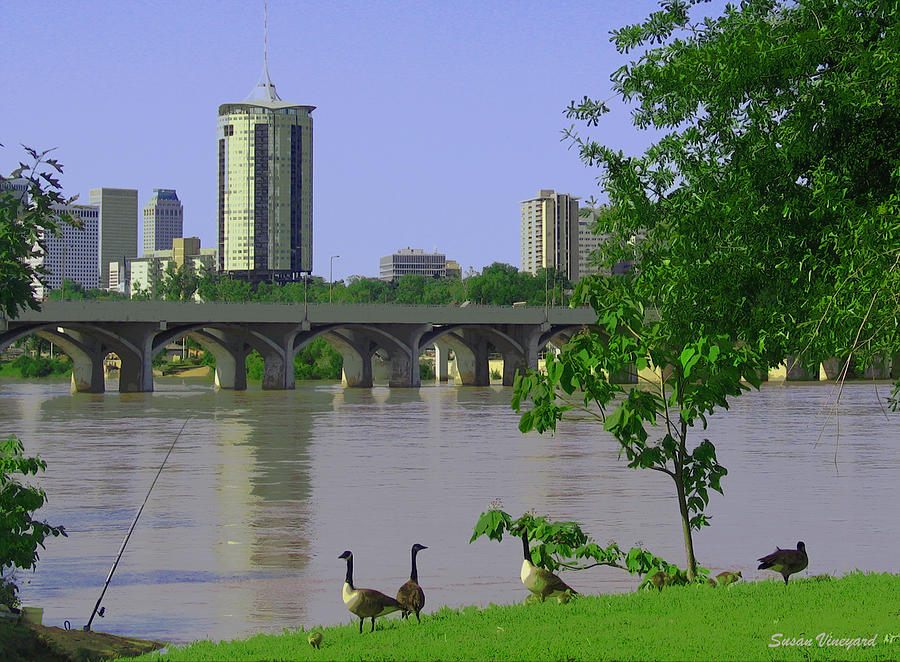 Tulsa Photograph - Down By The River by Susan Vineyard