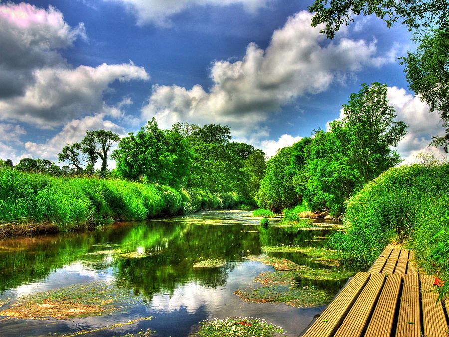 River Bann Photograph - Down By The Riverside by Kim Shatwell-Irishphotographer