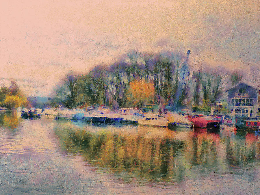 River Thames Digital Art - Down By The Riverside by Leigh Kemp