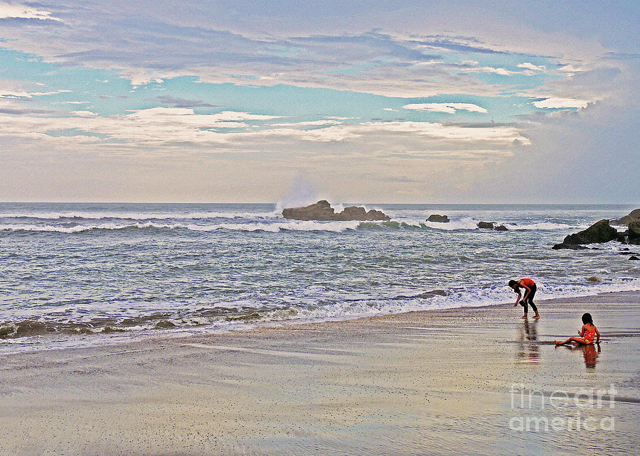 Seascape Photograph - Down By The Sea by Lydia Holly