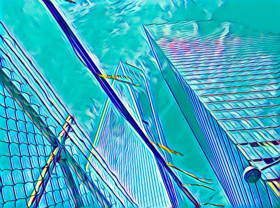 Wtc Digital Art - Down By The Water by Gina Callaghan
