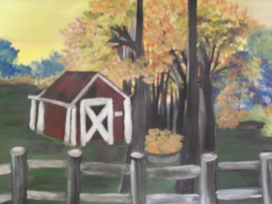 Down On The Farm Painting by Teresa Nash