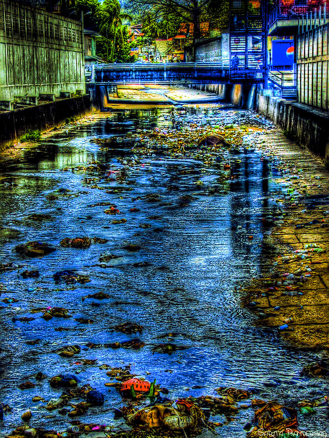 Pos Photograph - Down The Drain by Sarita Rampersad