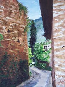 Italy Print - Down The Lane by Rose Wood
