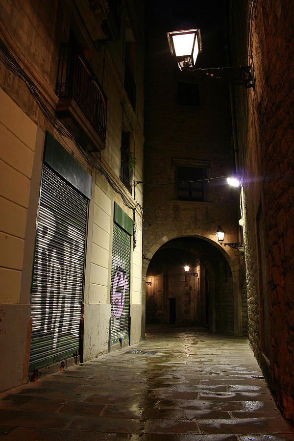 Barcelona Photograph - Down The Path by Jason Hochman