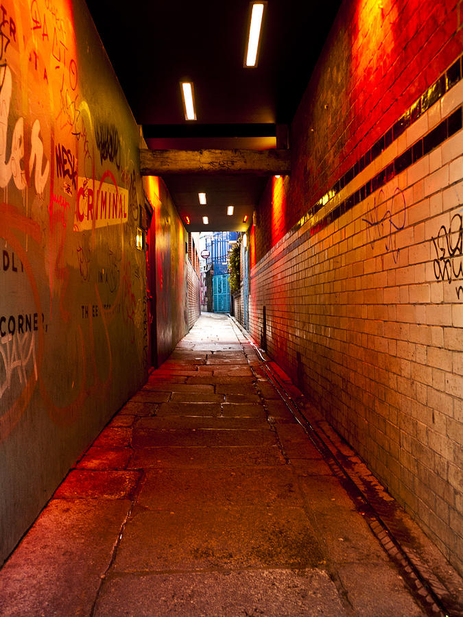 Dublin Photograph - Down The Red Tunnel by Rae Tucker