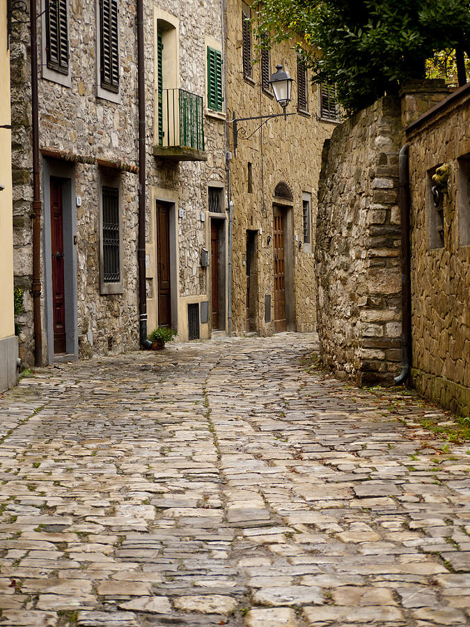 Greve Photograph - Down The Road In Montefiorella by Rae Tucker