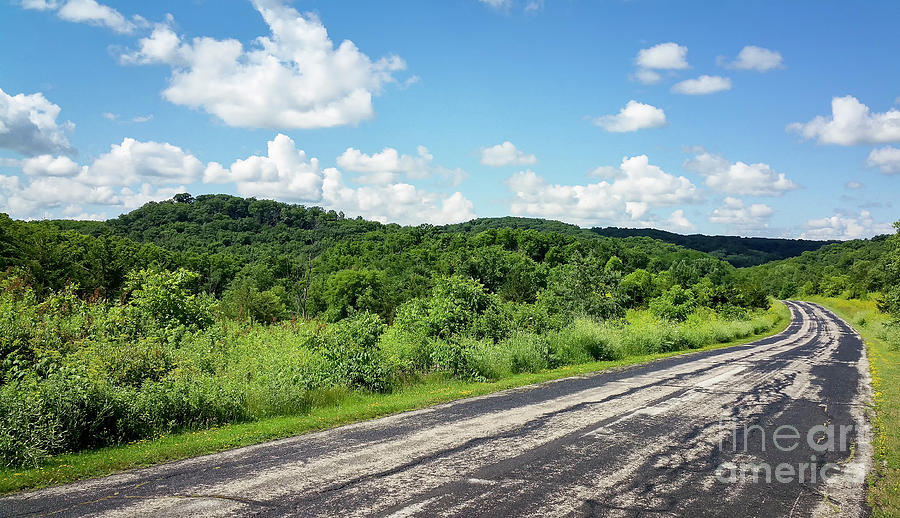 Landscape Photograph - Down The Road by Ricky L Jones