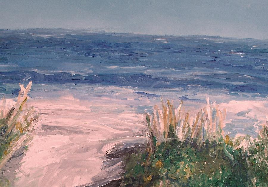 Ocean Painting - Down The Shore by Eric  Schiabor