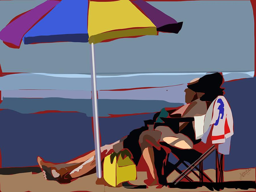 Down the Shore Painting by Jennifer Buerkle