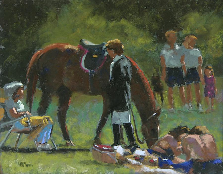 Horse Painting - Down Time by Mary McInnis