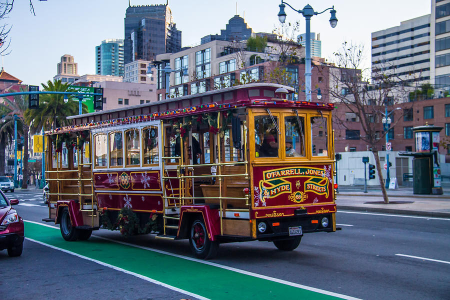Yosemite Photograph - Down Town Trolly Car by Brian Williamson