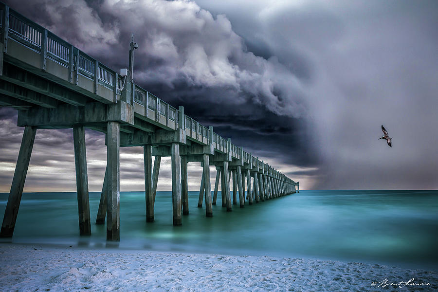 Downpour- Pensacola Beach Digital Art by Brent Shavnore