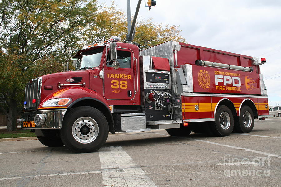 Fire Photograph - Downs Tanker 38 by Roger Look