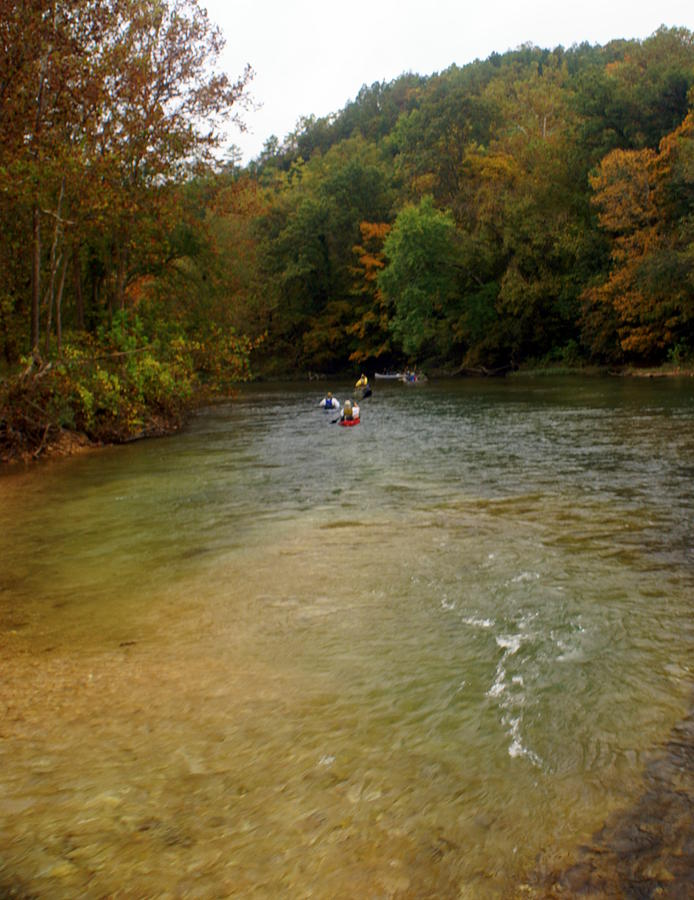 Current River Photograph - Downstream by Marty Koch