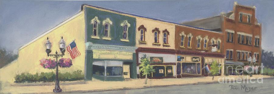Downtown Ashland Ohio Painting by Terri  Meyer