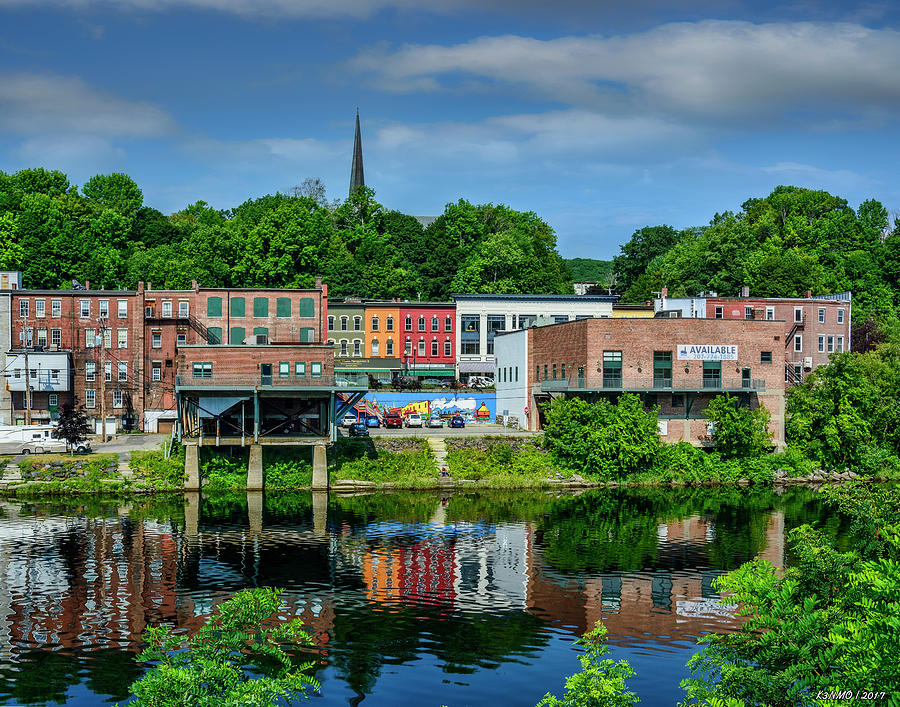 Augusta Digital Art - Downtown Augusta, Maine by Ken Morris