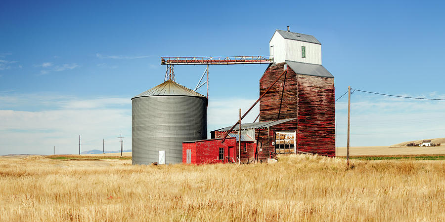 Grain Elevator Photograph - Downtown Benchland by Todd Klassy