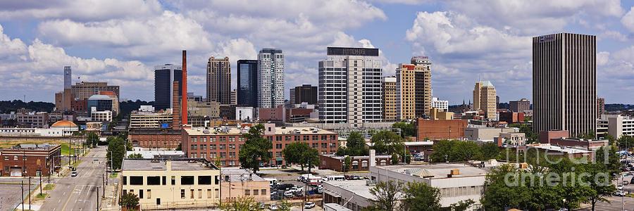 Alabama Photograph - Downtown Birmingham Skyline by Jeremy Woodhouse