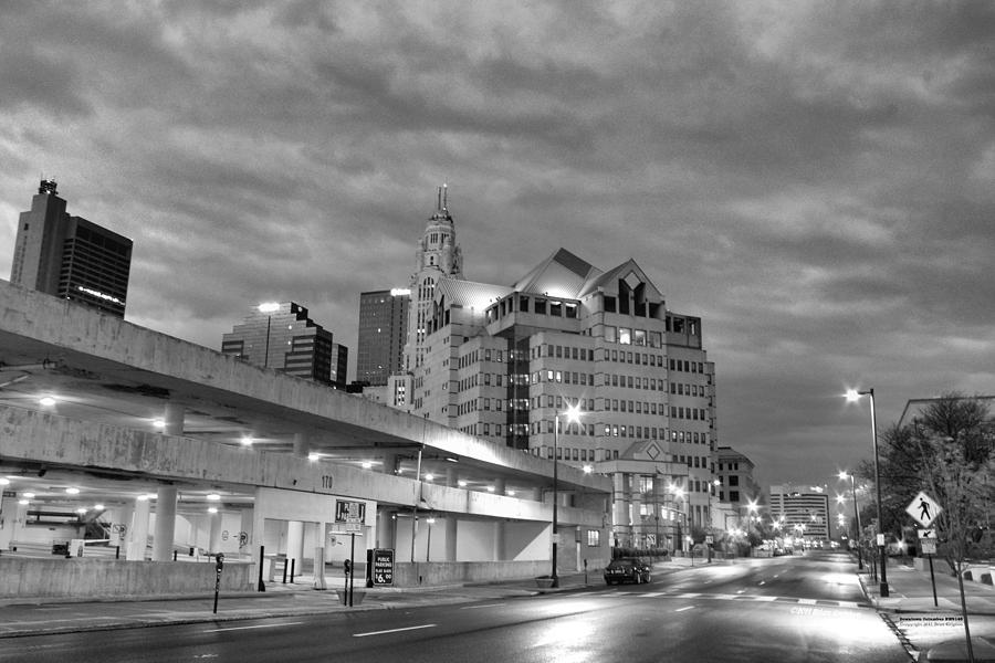 Black Photograph - Downtown Columbus Bw5145 by Brian Gryphon