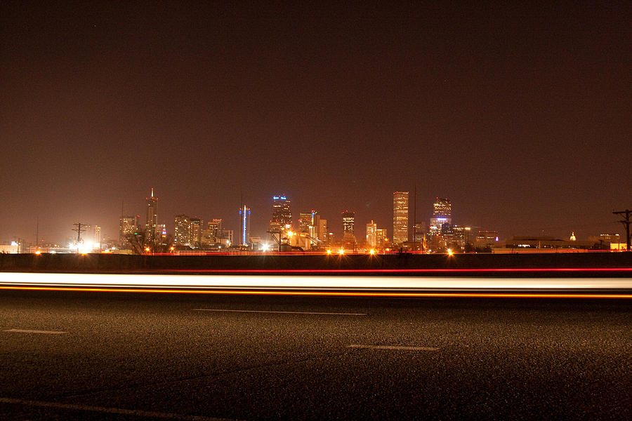 Cityscape Photograph - Downtown Denver  by Angus Hooper Iii