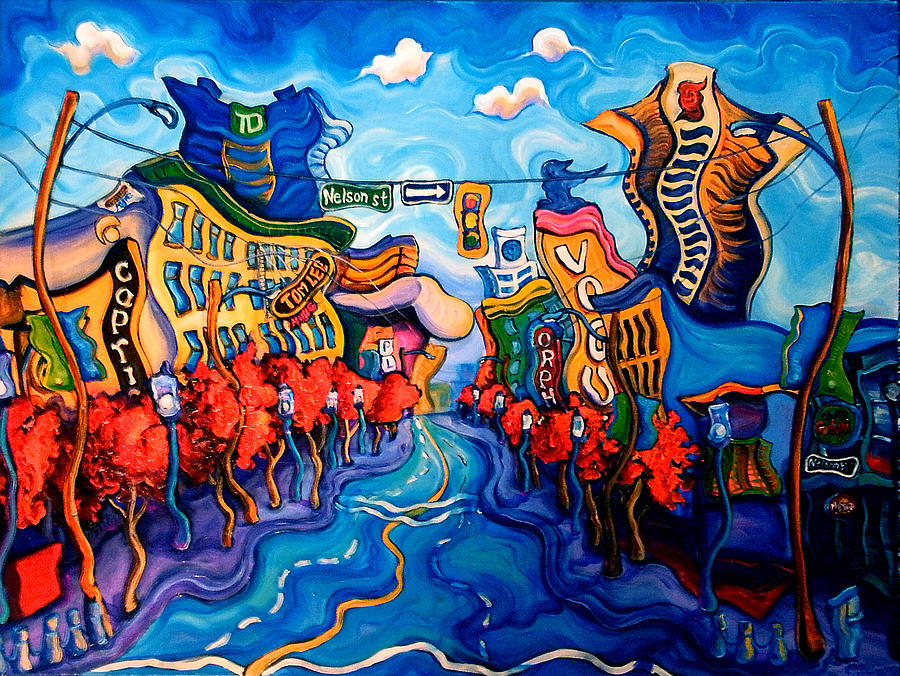 Downtown Granville Painting by Laura Zerebeski