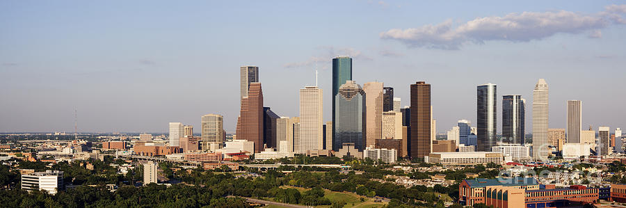 Architecture Photograph - Downtown Houston Skyline by Jeremy Woodhouse