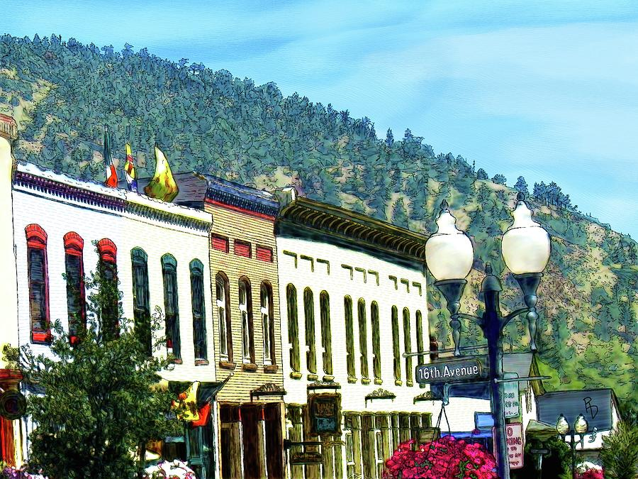 Downtown Idaho Springs by Ric Darrell
