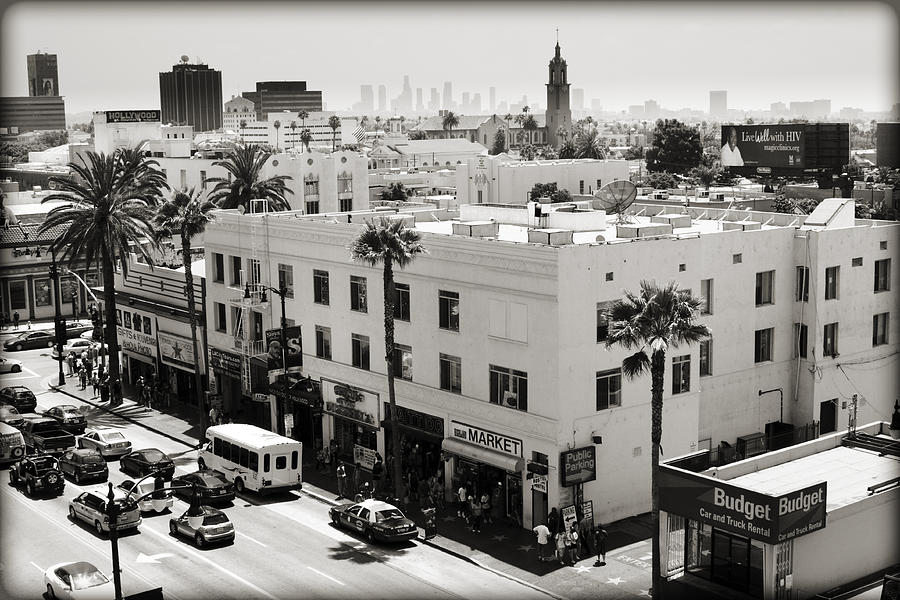 Hollywood Photograph - Downtown In The Distance by Ricky Barnard