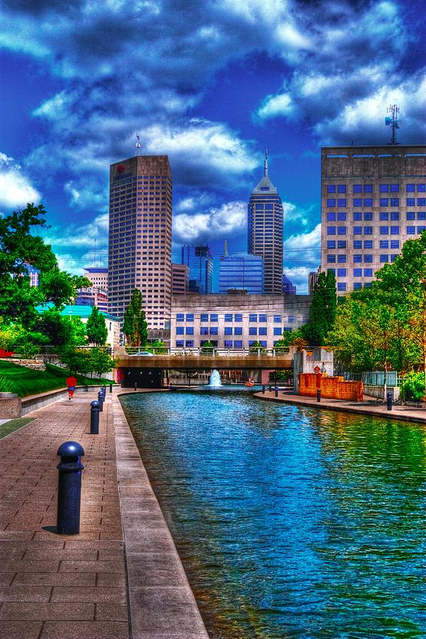 Indianapolis Photograph - Downtown Indianapolis Canal by David Haskett