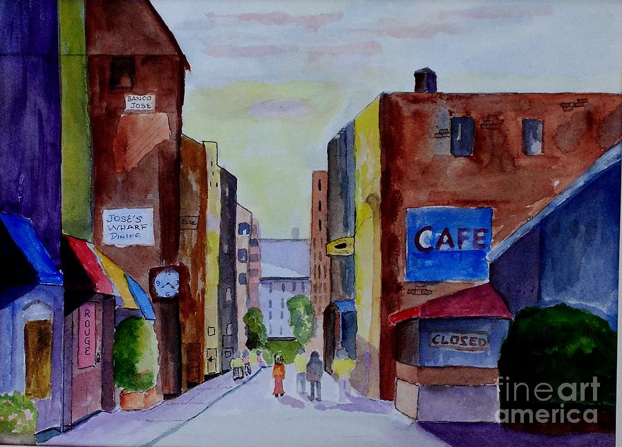 People Painting - Downtown by Joe Hagarty