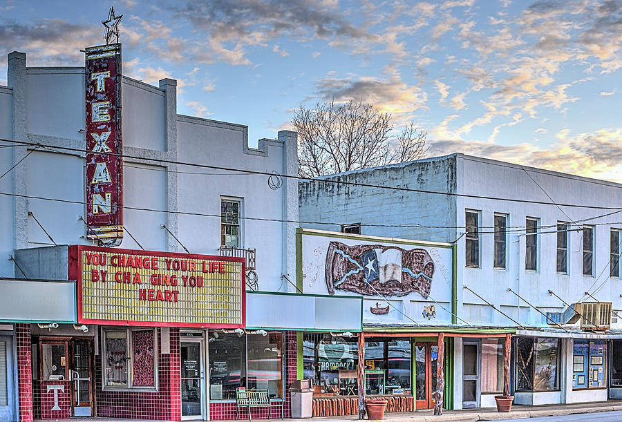 West Texas Photograph - Downtown Junction Texas by JC Findley