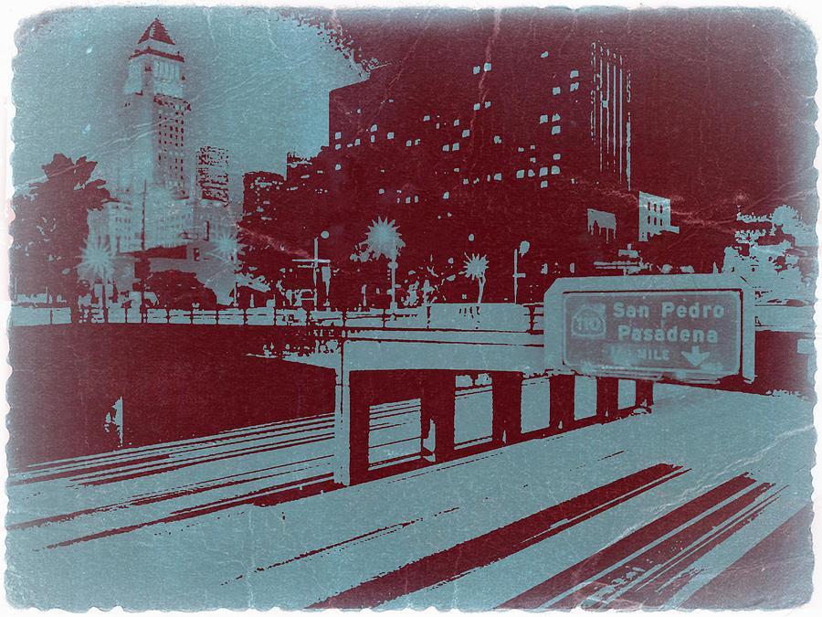 Downtown Photograph - Downtown La by Naxart Studio