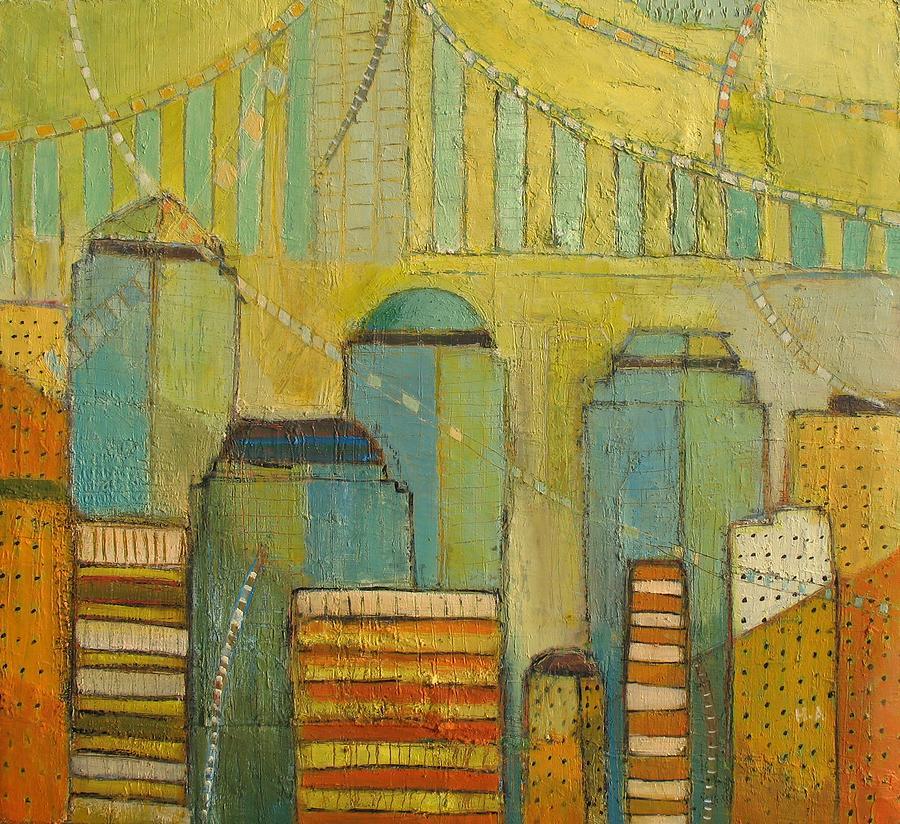 New Jersey Artists Painting - Downtown Manhattan by Habib Ayat