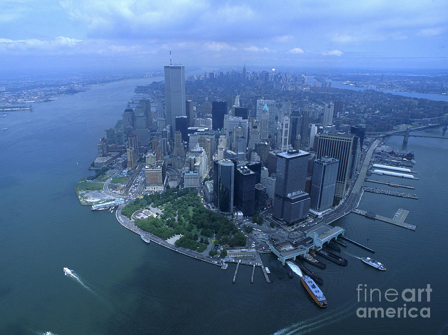 Downtown Manhattan New York City Aerial View Photograph By