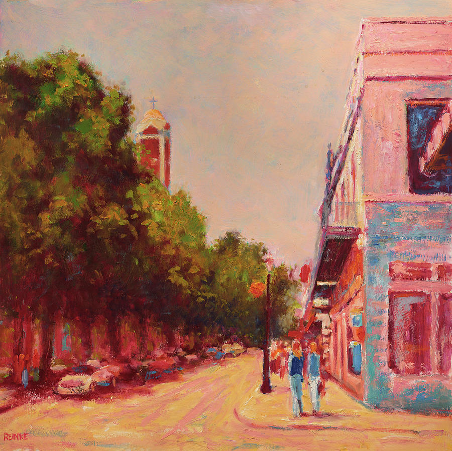 Downtown Mobile on Dauphin by Cathedral Park by Vernon Reinike