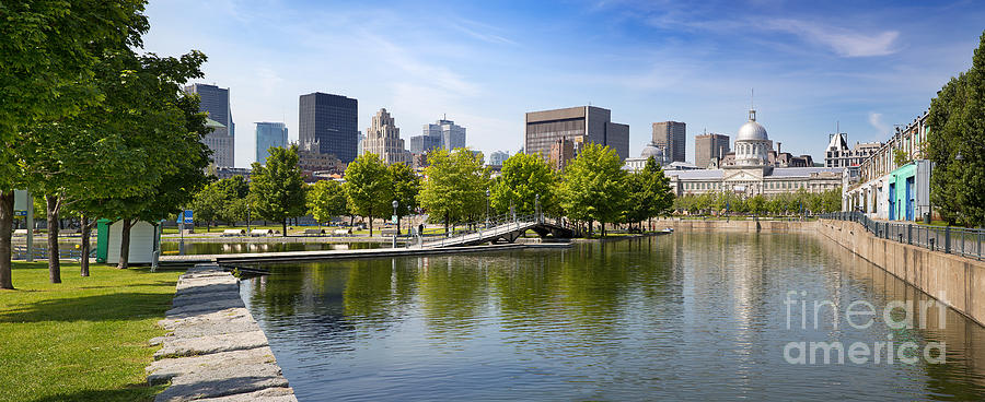 Montreal Photograph - Downtown Montreal In Summer by Jane Rix