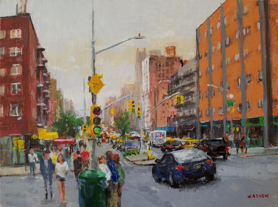 Landscape Painting - Downtown on Seventh No. 1  by Peter Salwen