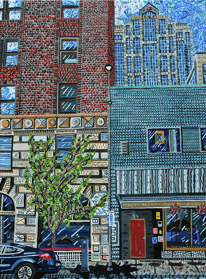 Raleigh Painting - Downtown Raleigh - West Martin Street by Micah Mullen