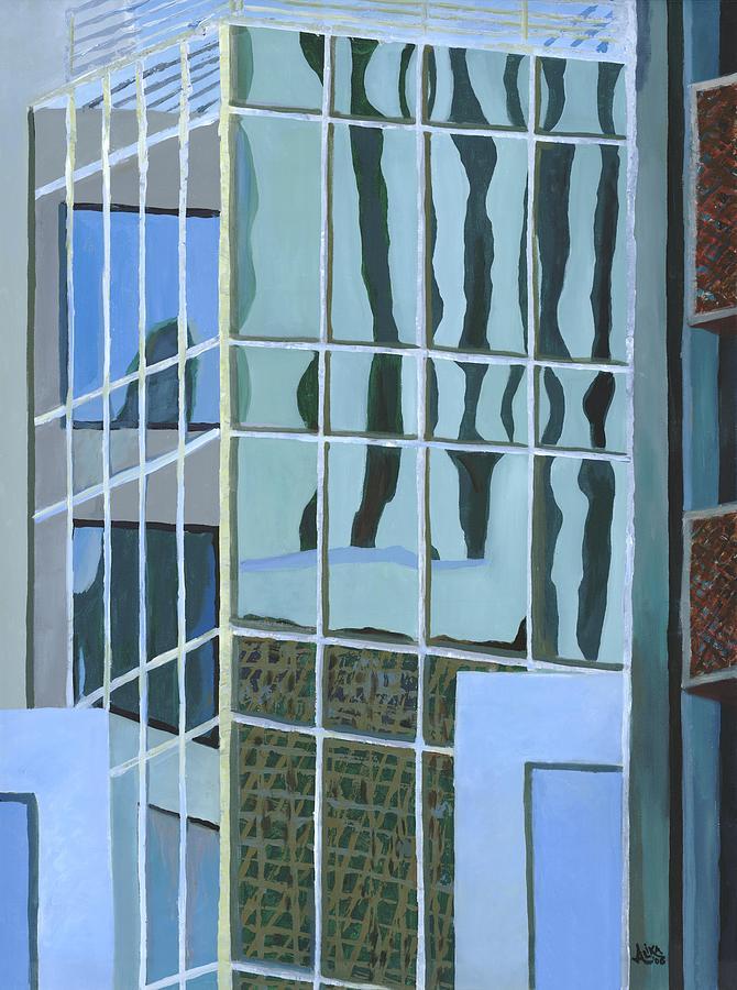 Downtown Reflections Painting by Alika Kumar
