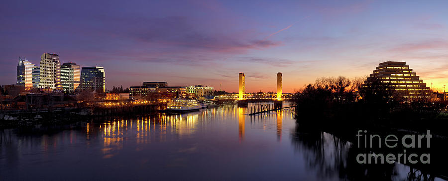 Downtown Sacramento skyline  after sunset by Ken Brown