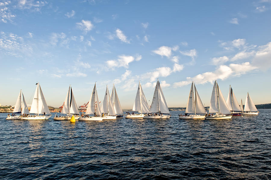 Seattle Photograph - Downtown Sailing Series by Tom Dowd