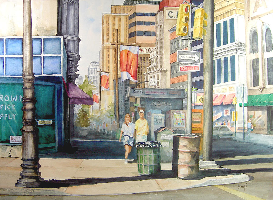 City Painting - Downtown by Sam Sidders